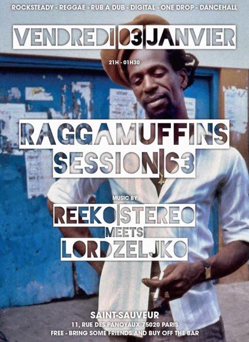 Raggamuffin Session vendredi 3 janvier à Paris