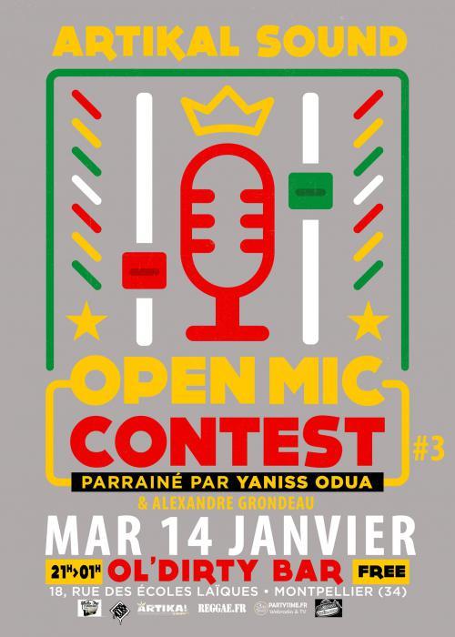 3ème Open Mic Contest à Montpellier le 14/01