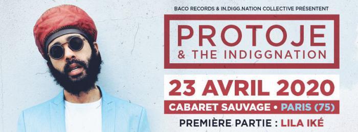 Protoje au Cabaret Sauvage le 23 avril