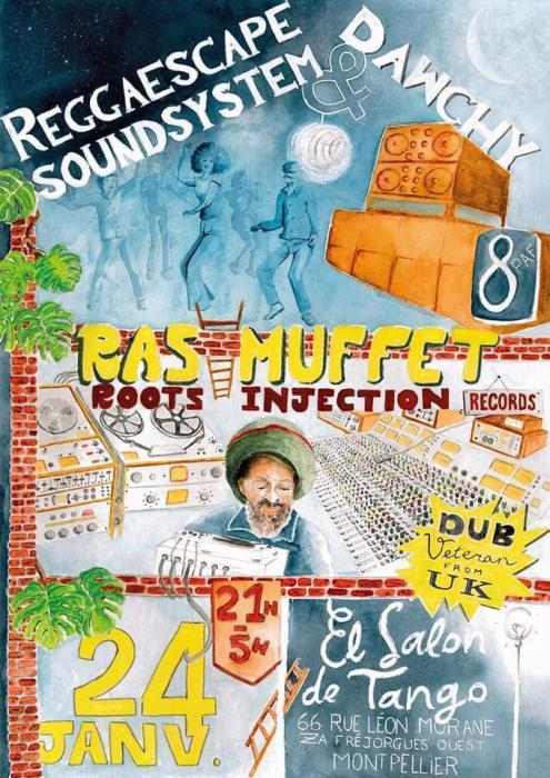 Reggaescape Sound & Dawchy meet Ras Muffet le 24 janvier