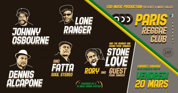 Paris Reggae Club le 20 mars à ne pas manquer