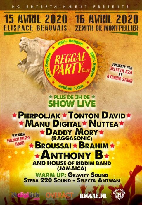 Reggae Party Tour en avril