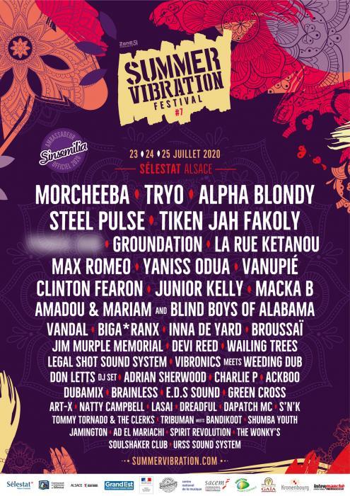 Summer Vibration : le prog jour par jour