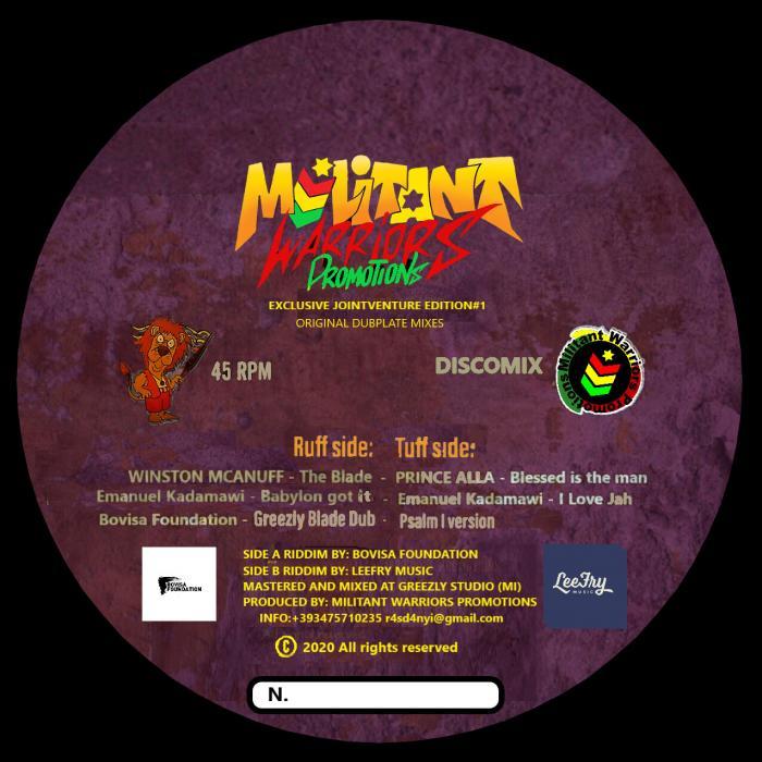 Un vinyle avec McAnuff & Prince Alla