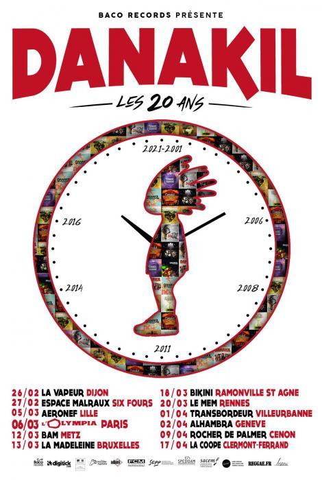 Danakil : les dates de la tournée des 20 ans