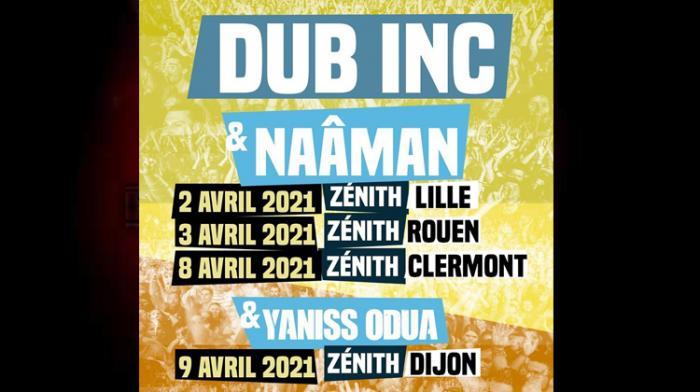 Dub Inc : des dates en 2021 avec Naâman et Yaniss Odua