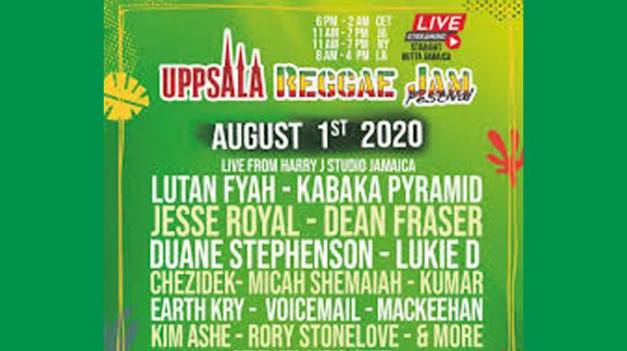 Uppsala Reggae Jam Festival en virtuel ce weekend !!