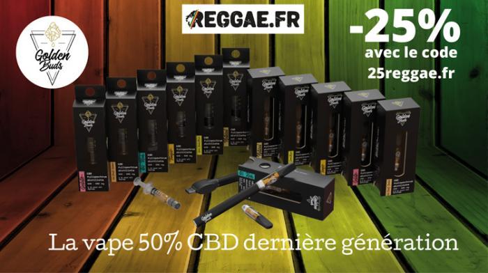 #CBD Golden Buds : -25% avec le code 25reggae.fr
