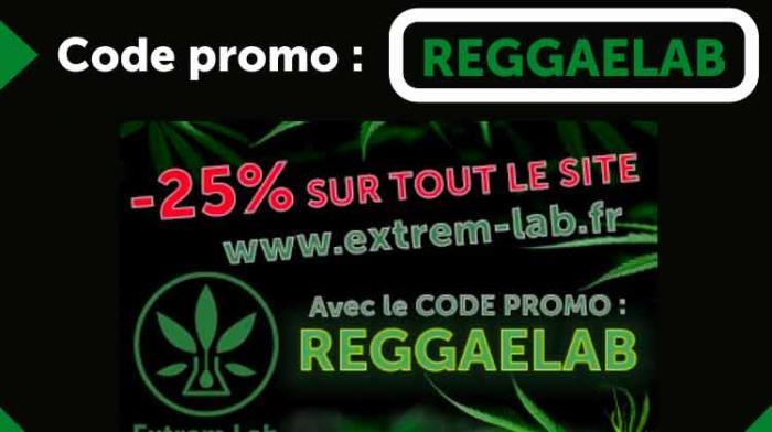 Extrem Lab #CBD: -25% de réduc avec le code REGGAELAB
