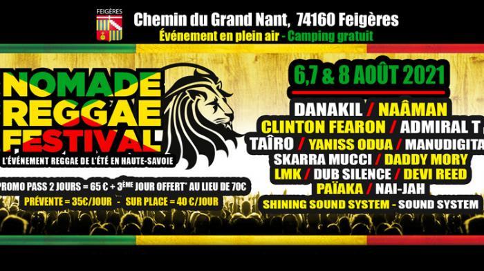 Nomade Reggae Festival les 6, 7 et 8 août